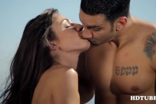Tattooed, Fine Looking Babe Is Sucking A Big, Black Cock And Getting It Down Her Throat