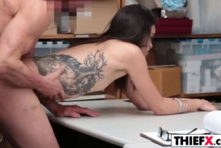 Sweet Teen Brunette Likes To Have A Casual Sex Adventure While At Work, At The Moment