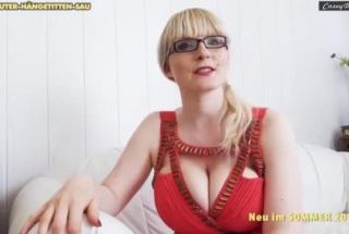 Busty German Woman Is Sucking A Younger Stranger's Dick Because He Offers Her Money For That