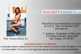 Naughty Schoolgirl, Ariana Marie Was Using A Vibrator To Drill Her Open Ass While Rubbing Her Pussy