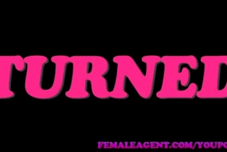 Female Agent Seduced And Fucked A Fresh Brunette, For The First Time And Needed A Blowjob