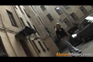 Abducted Blonde Girl Dildo Fucked Hard And Forced To Swallow Cum