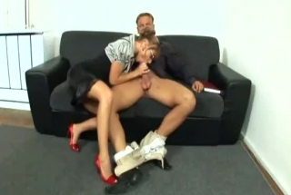 Petite Secretary Is About To Have Casual Sex With Her Boss, Instead Of Doing Her Job
