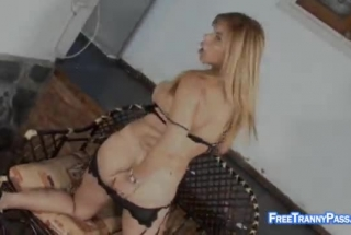 Shemale Wanks On Dick And Ass