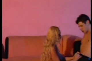 Big Titted Blonde Is Lying On The Sofa While A Hidden Camera Is Recording Her In Action