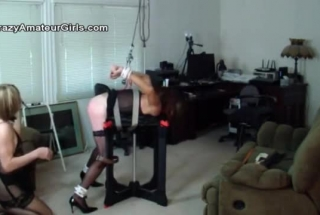 Slave Play With Flogger