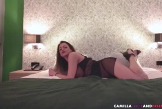 Shemale Teen Tugging Her Male Pet