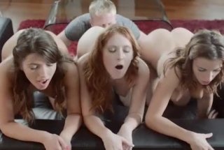 Dirty Minded Babes Are Having Tons Of Fun With Each Other In A Huge Bed