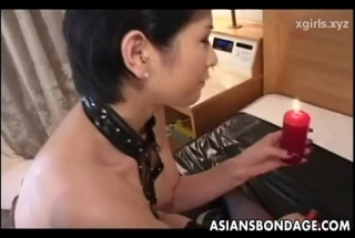 Asian Bitch Is Getting Her Huge Tits Filled Up And Gently Rubbing Her Perfectly Shaved Pussy