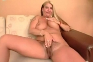 Uberhot Blonde With Tattoos And A Perfect Ass Is Twisting Her Pink Sex Toy