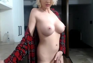 Busty Blonde Slut, Cody Cummings Barely Has Time To Finish A Glass Of Water After Sucking Cock