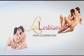 Interracial Lesbians Babes Going Wild With The Strapons